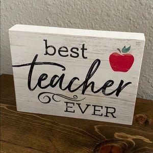 Best Teacher Ever Decor